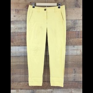 Cabi Women's Yellow Coast Crop Pants Size 2